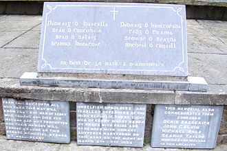 Executions during the Irish Civil War - Memorial to the Irish Republican soldiers executed by Free State forces at Ballyseedy, County Kerry.