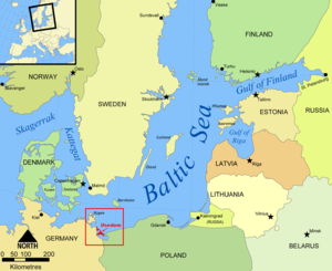 Usedom - Image: Baltic Sea map Usedom location