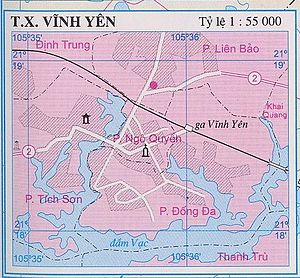 Vĩnh Yên - Bản đồ thị xã Vĩnh Yên, Vĩnh Phúc, Việt Nam