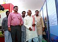 "Bandaru Dattatreya visiting after inaugurating the Directorate Of Advertising And Visual Publicity's(DAVP) Photo Exhibition ""Saal Ek Shuruat Anek"", highlighting the achievements of one year of NDA Government, in Hyderabad (1).jpg"