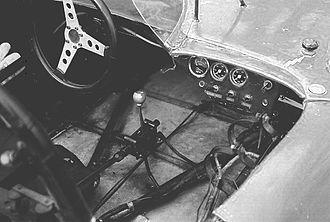 Bandini 1000 V - The cockpit of 1000V sports prototype.