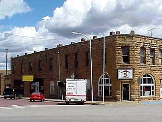 Barnsdall, Oklahoma - Bank of Bigheart building in Barnsdall