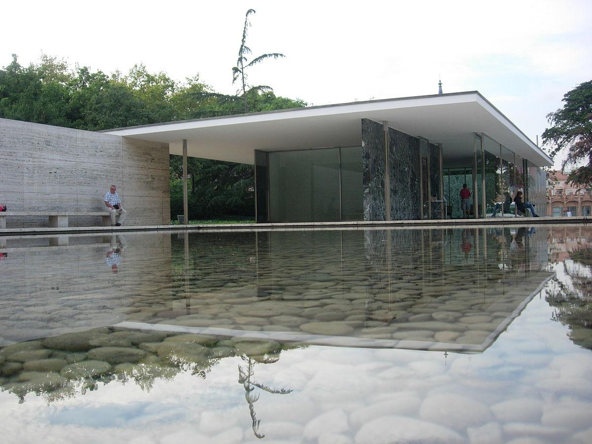 Barcelona paviljoen wikipedia - Glazen dak dak glijdende ...