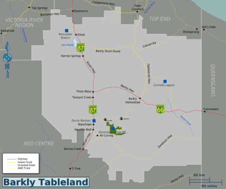 Map of Barkly Tableland