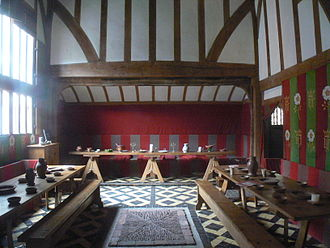 Great hall - The Great Hall in Barley Hall, York, restored to replicate its appearance in around 1483