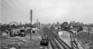 Barnwell, Cambridgeshire - The former railway station of Barnwell Junction in 1963