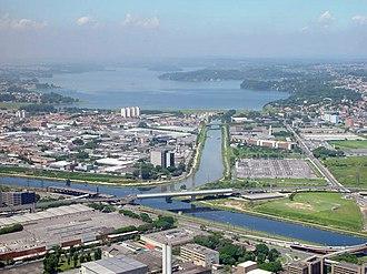 South Zone of São Paulo - Image: Barragem Guarapiranga Sao Paulo