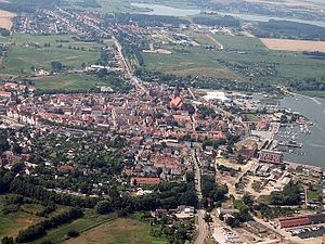 Barth, Germany - Old town and harbor of Barth seen from above (2006)