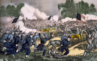 1863 in the United States - Image: Battle of Gettysburg, by Currier and Ives