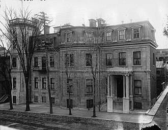 Alfred Baumgarten - Baron Baumgarten's Montreal home, reminiscent of the previously pictured Donner Park