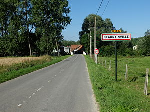Beaurainville - The road into Beaurainville