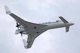 Beechcraft Starship - The Starship's unusual design features canards and pusher propellers