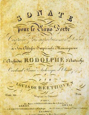Piano Sonata No. 32 (Beethoven) - Title page of the first edition of the Beethoven Sonata Op. 111, with dedication