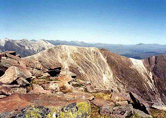 Beinn Liath Mhòr - Beinn Liath Mhor seen from Sgorr Ruadh, note the distinctive bands of quartzite and sandstone