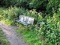 Bench beside Mutton Brook - geograph.org.uk - 452888.jpg
