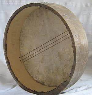 Chaoui people - Bendir with snares