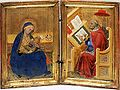 Benedetto di Bindo. Madonna of Humility and st Jerom translating the Gospel of John.jpg