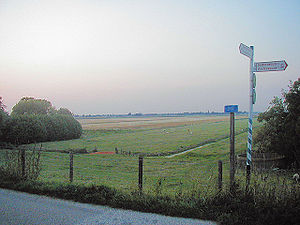 Holland - Benthuizen polder, as seen from a dike
