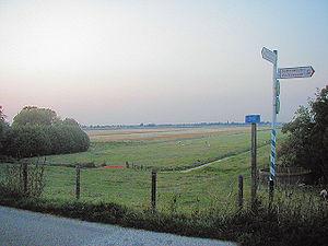 Holland - Benthuizen polder, as seen from a dike
