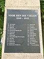 Berg en Dal (Groesbeek) Zevenheuvelenweg oorlogsmonument (02) namenbord.JPG