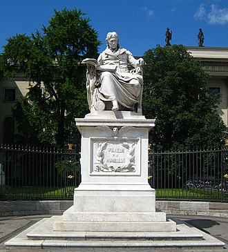 Humboldtian model of higher education - Statue of Wilhelm von Humboldt outside the Humboldt University