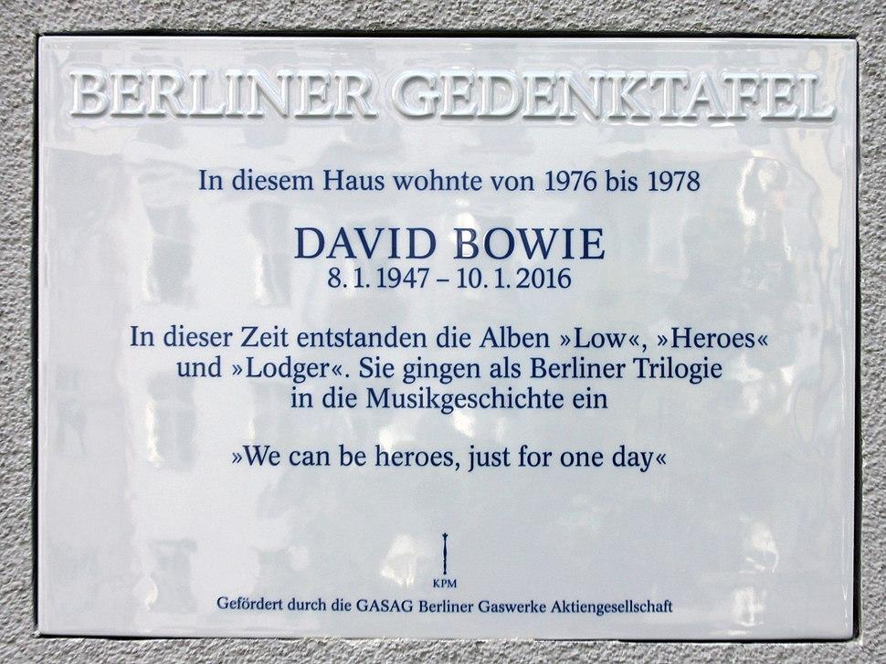 Berliner Gedenktafel Hauptstr 155 (Sch%C3%B6n) David Bowie