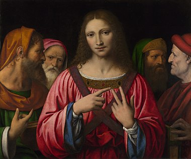 Bernardino Luini, Christ among the Doctors, c.1515-30, oil on poplar, 72.4 x 85.7 cm, National Gallery, London.jpg