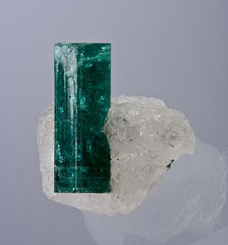 Ndola - Emerald from the Kagem Emerald Mine, Kafubu Emerald District, Ndola. Size 3.0 x 2.7 x 2.6 cm.