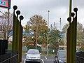 Bescot Stadium Station - sculpture railings along path to the car park (38128832876).jpg