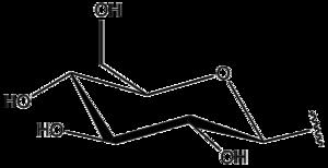 Glycosyl - Image: Beta D Glucopyranosyl