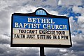 Bethel Baptist Church Sign -- 3200 28th Avenue North Collegeville Birmingham (AL) February 2019 (33867354498).jpg