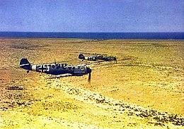 Messerschmitt bf 109 's boven noord-afrika