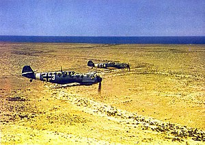 Jagdgeschwader 27 - Bf 109Es of JG 27 in flight over North Africa