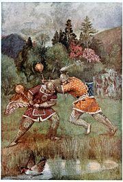 Bhima hurled his mace with fury