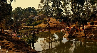 Bhullatal Lake - View of Lake in the backdrop of Lansdowne, India