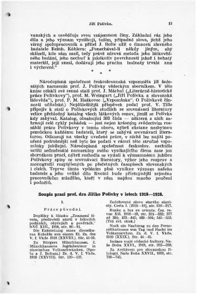 File:Bibligrafie prací J. Polívky 1918-1928 (J. Horák).djvu