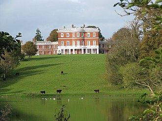 Bicton House, Devon - Bicton House, viewed from across the lake