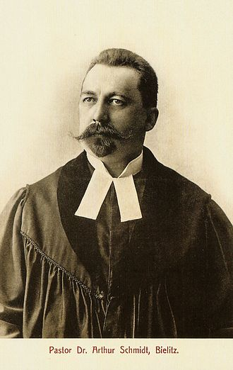 Pastor - Pastor Dr. Arthur Schmidt (1866-1923), pastor in Bielsko-Biała (1894-1923)