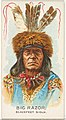 Big Razor, Blackfeet Sioux, from the American Indian Chiefs series (N2) for Allen & Ginter Cigarettes Brands MET DP828008.jpg