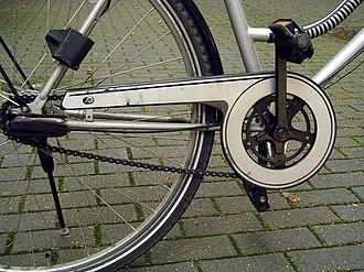 Gear case - Image: Bike chain guard part