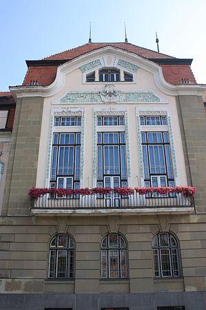 Bílina - Bilina Town Hall, Czech Republic (rear)