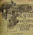 Blätter für Aquarien- und Terrarien-Kunde (1905) (19765495824).jpg