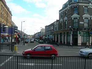 Finsbury Park, London - Image: Blackstock Road N4 geograph.org.uk 140196