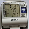 Blood Pressure & Heart Rate on Omron R6 20150222.jpg