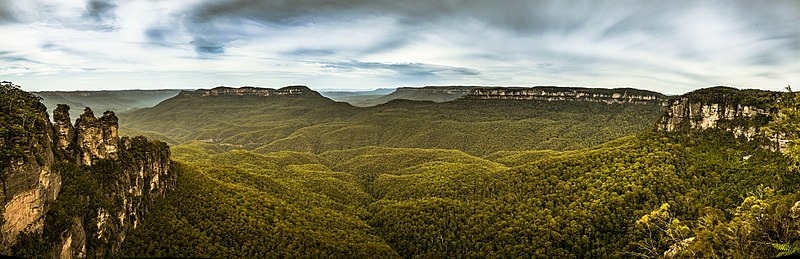 De Three Sisters met de Blue Mountains