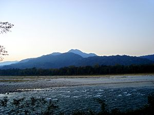 Manas National Park - A view of mountains from the park