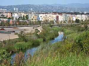 Playa Vista, Los Angeles - Playa Vista from the south, with Bluff Creek in foreground