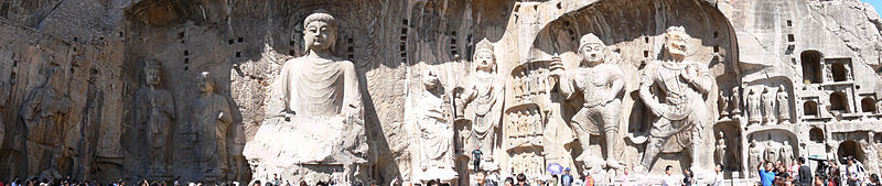 Tập tin:Boddhisatvas in Longmen Grottoes.JPG