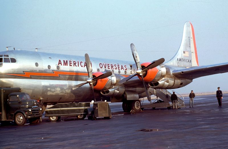 File:Boeing 377 Stratocruiser (B-29) American Overseas  1949-50.jpg