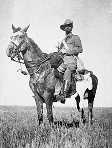 Photograph of an imperial yeoman in South Africa